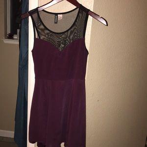 Burgundy/plum dress